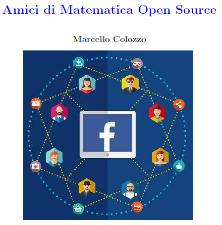 matematica open source,amici,facebook,gruppo