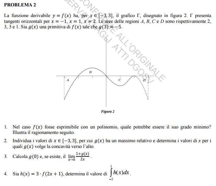 Esame di maturità 2015,prova di matematica (liceo scientifico